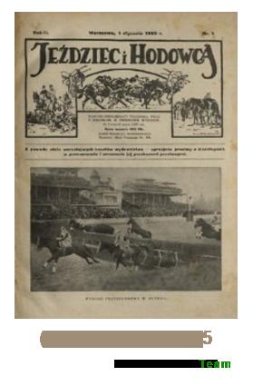 Jeździec i Hodowca, R. 2 (1923), Nry 1-25