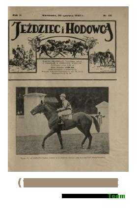 Jeździec i Hodowca, R. 2 (1923), Nry 26-52