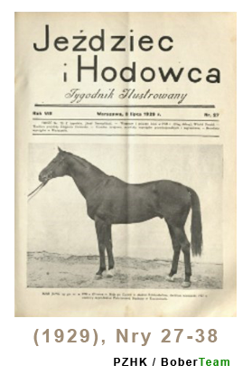 Jeździec i Hodowca, R. 8 (1929), Nry 27-38