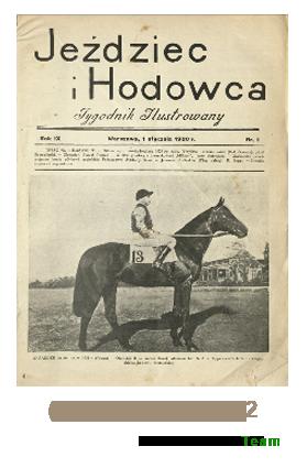 Jeździec i Hodowca, R. 9 (1930), Nry 1-12