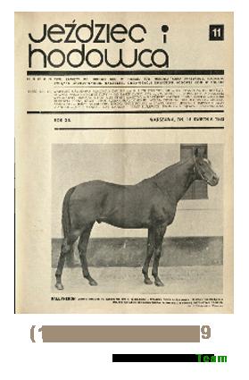 Jeździec i Hodowca, R. 12 (1933), Nry 11-19