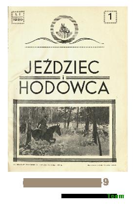 Jeździec i Hodowca, R. 14 (1935), Nry 1-9