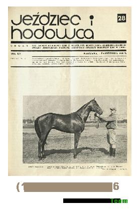 Jeździec i Hodowca, R. 14 (1935), Nry 28-36