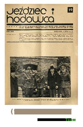 Jeździec i Hodowca, R. 17 (1938), Nry 19-27