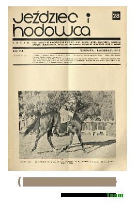 Jeździec i Hodowca, R. 17 (1938), Nry 28-35